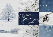 Winter Collage Holiday Greeting Card